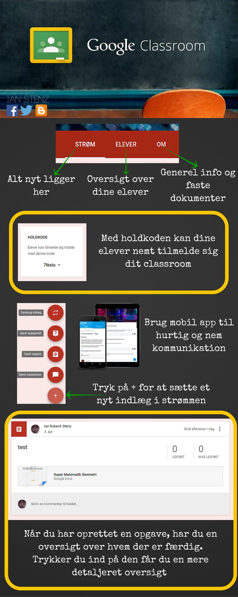 Goolge Classroom for lærer